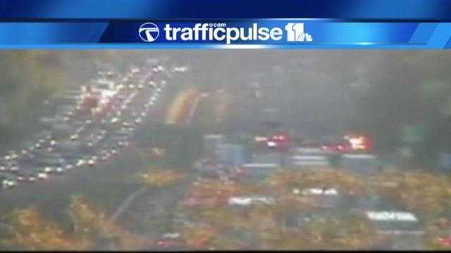 TrafficPulse 11 cameras show no vehicles getting past the Route 100 area on northbound I-95.