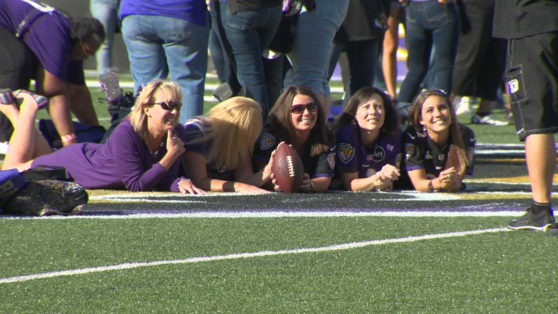 "The Baltimore Ravens' female fan base rallied at M&T Bank Stadium Monday for the annual ""A Purple Evening."""