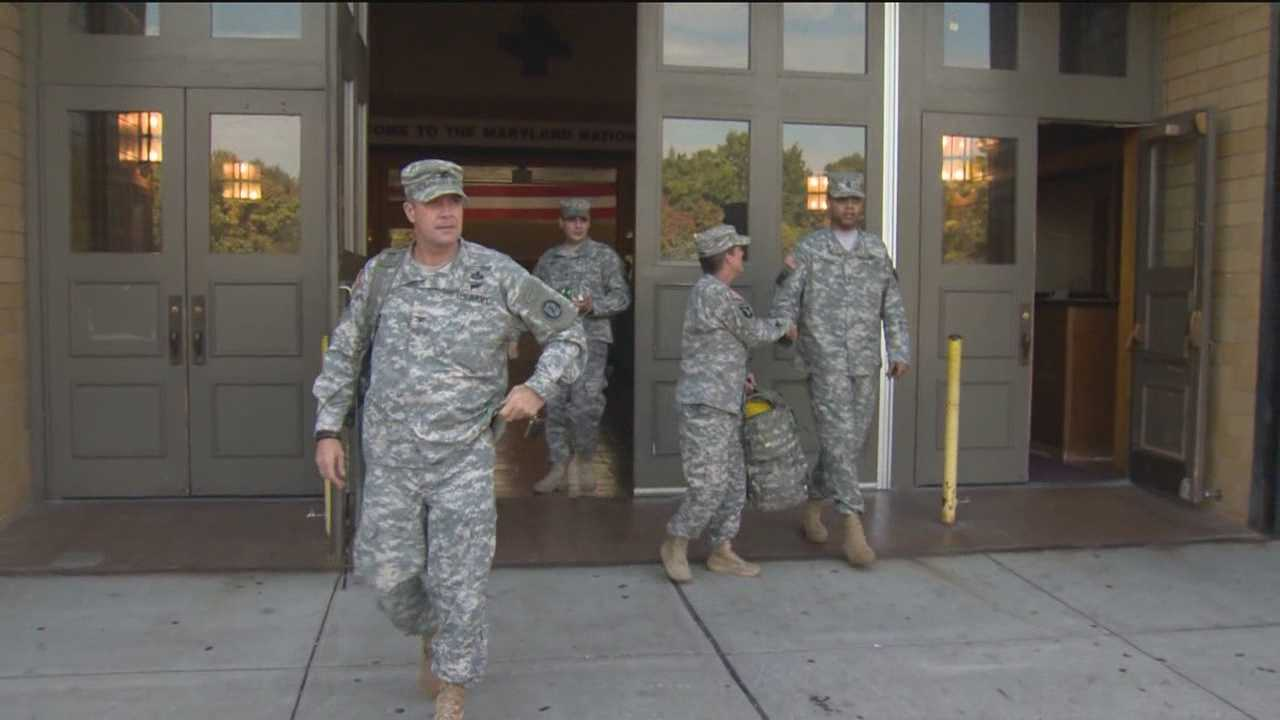 Some members of the Maryland National Guard will continue to get paid through the government shutdown, but not everyone.