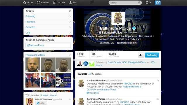 Baltimore police twitter
