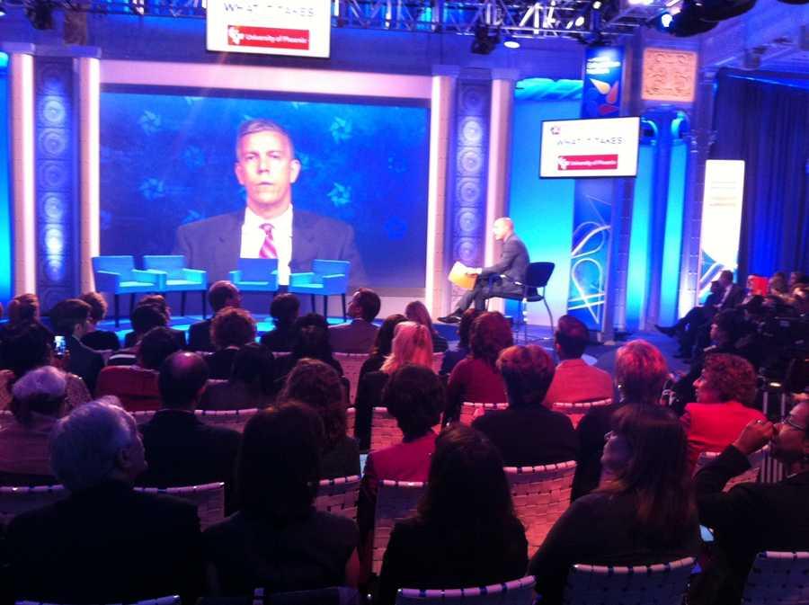 U.S. Secretary of Education Arne Duncan addresses educators at the Education Nation summit in New York.