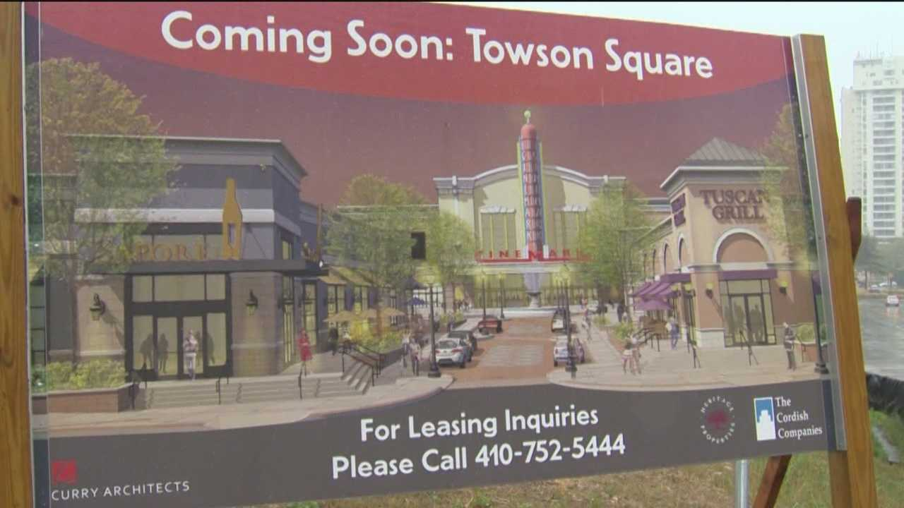 Bobby's Burger Palace, Bonefish Grill, BJ's Restaurant & Brewhouse, and Hanabi Japanese Restaurant join the $85 million Towson Square entertainment center project in downtown Towson.