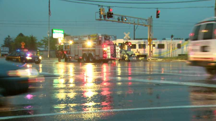 A crash between a van and a light rail train in the Cockeysville area early Friday morning injured several people, at least one seriously.