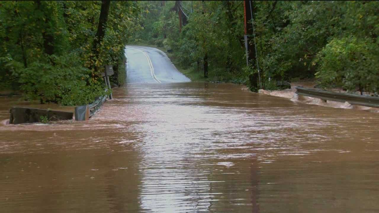 Two days of rain has caused flooding in parts of Maryland.