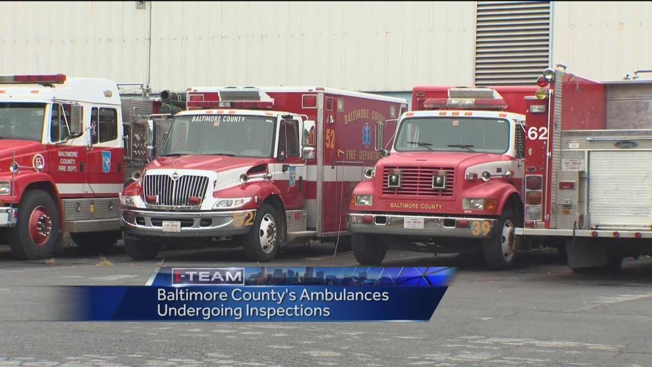 Ambulances in Baltimore County are being inspected now after a WBAL-TV 11 News I-Team report about a woman's fall from a stretcher that led to her death.