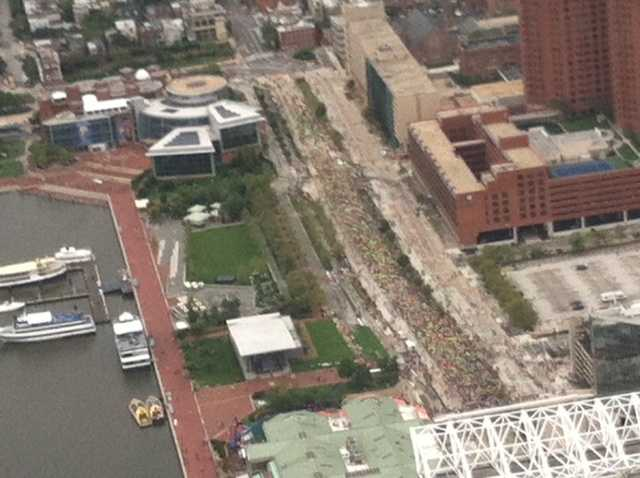 Marathon view from the sky.