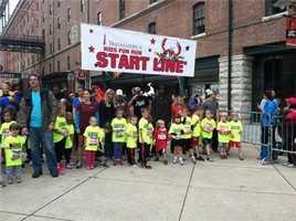 The kids are ready for their fun run!