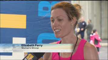The winner of the women's Baltimore Marathon, Elizabeth Perry, talks to 11 News about her big win.