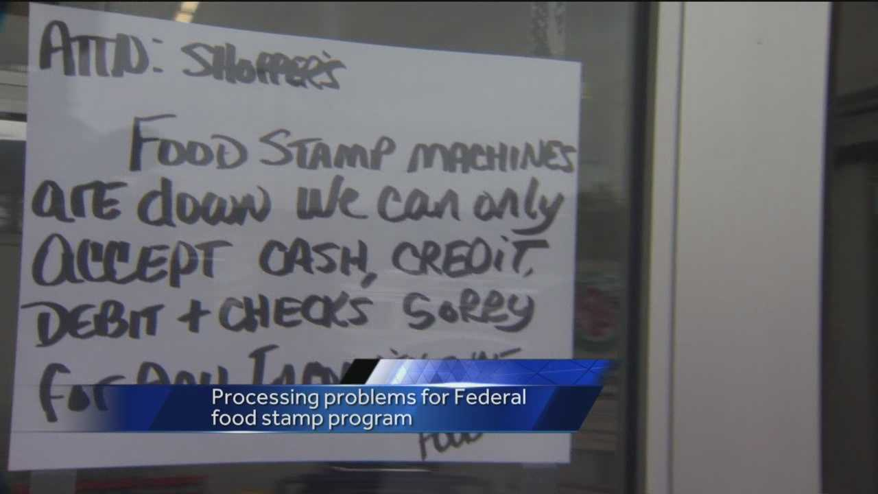 Customers with food stamps could not make purchases Saturday because of a computer glitch.