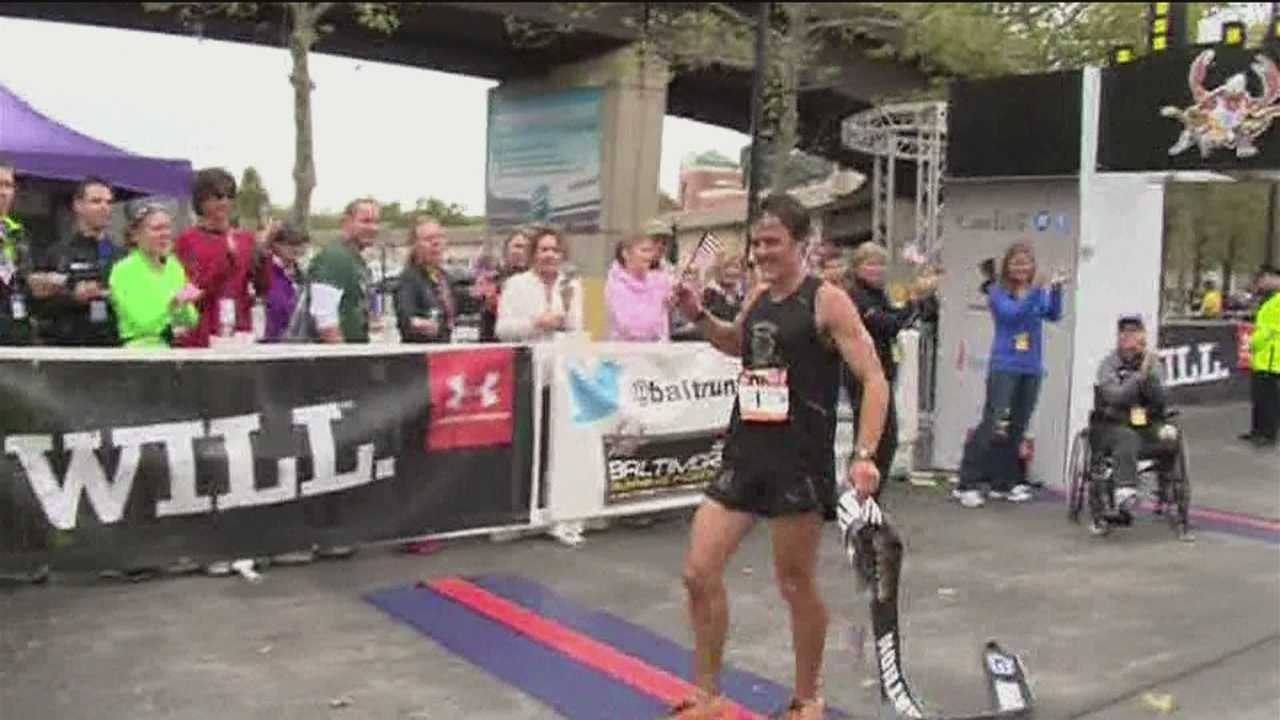 Baltimore County teacher and coach, David Berdan is a star after winning the Baltimore Marathon on Saturday.