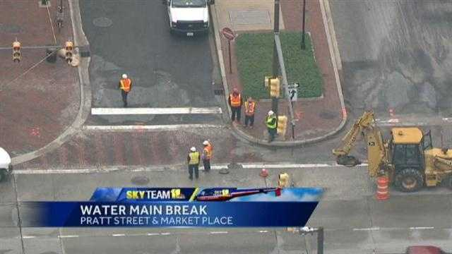 downtown water main break
