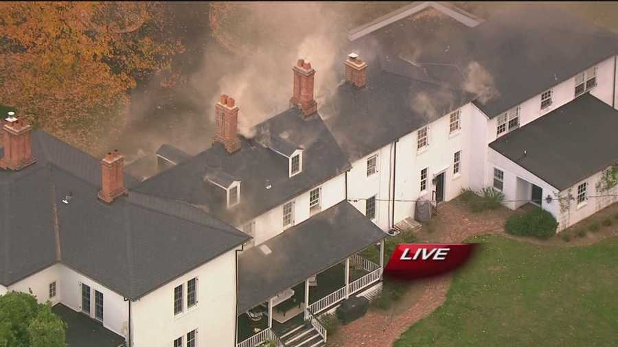 Firefighters battled the fire at a home in Glen Arm in Baltimore County.