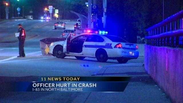 I-83 officer crash