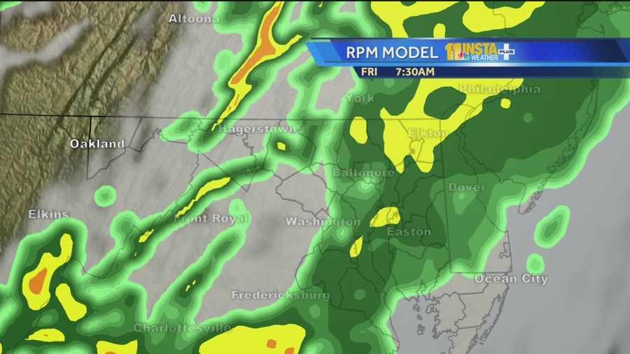 Track rain on radar