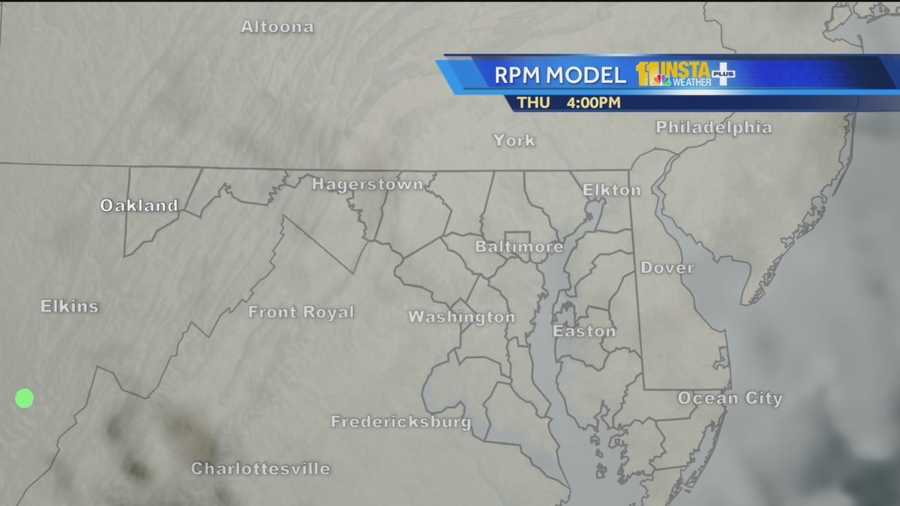Spots of drizzle are possible throughout the evening during trick-or-treat times.