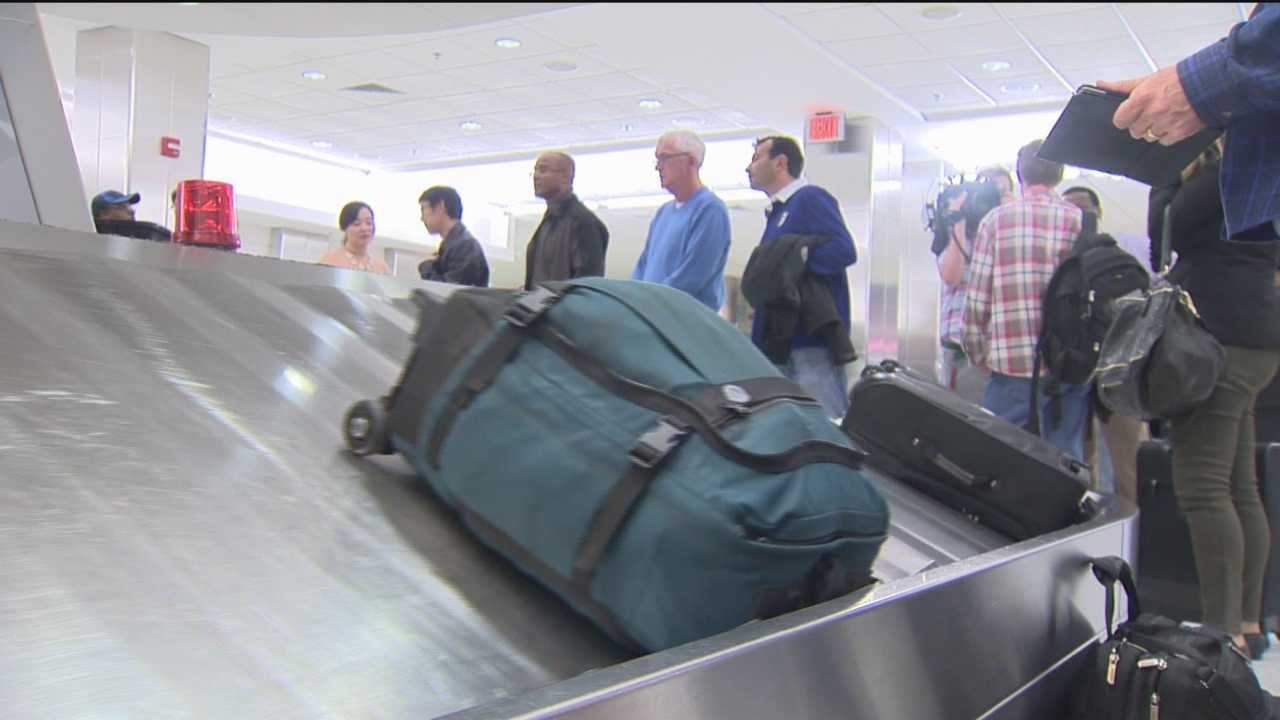 11 News speaks with the Baltimore-bound passengers aboard United flight 443, which left LAX about 20 minutes before the shooting.