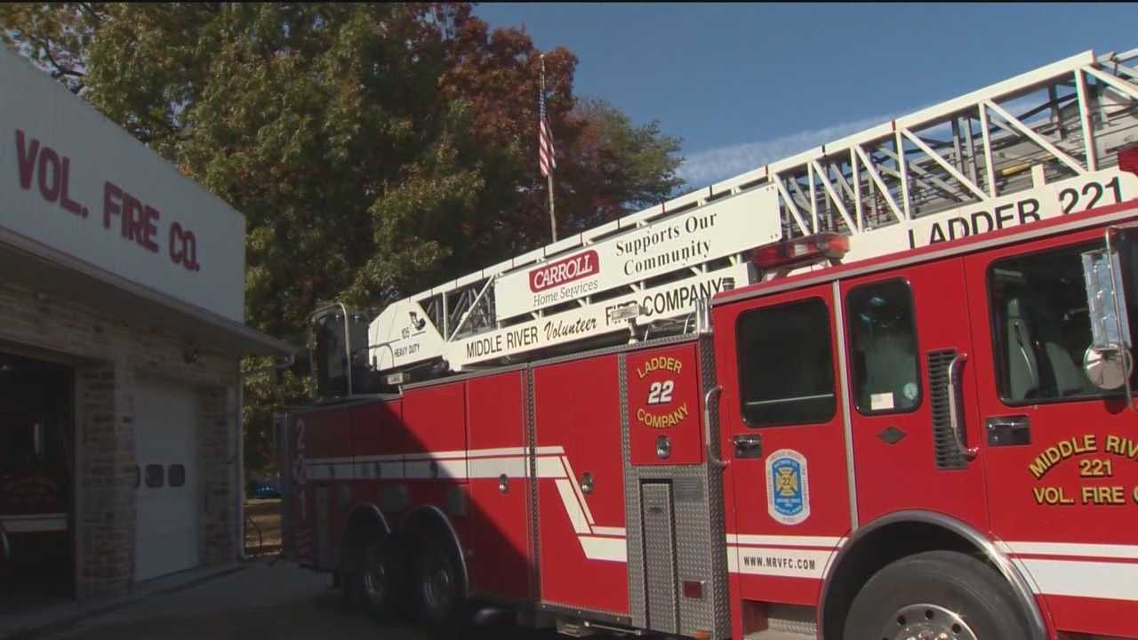 The Middle River Volunteer Fire Company, an all-volunteer effort that gets about 45 percent of its funding from Baltimore County in grants, but has added ads to help bridge the funding gap.
