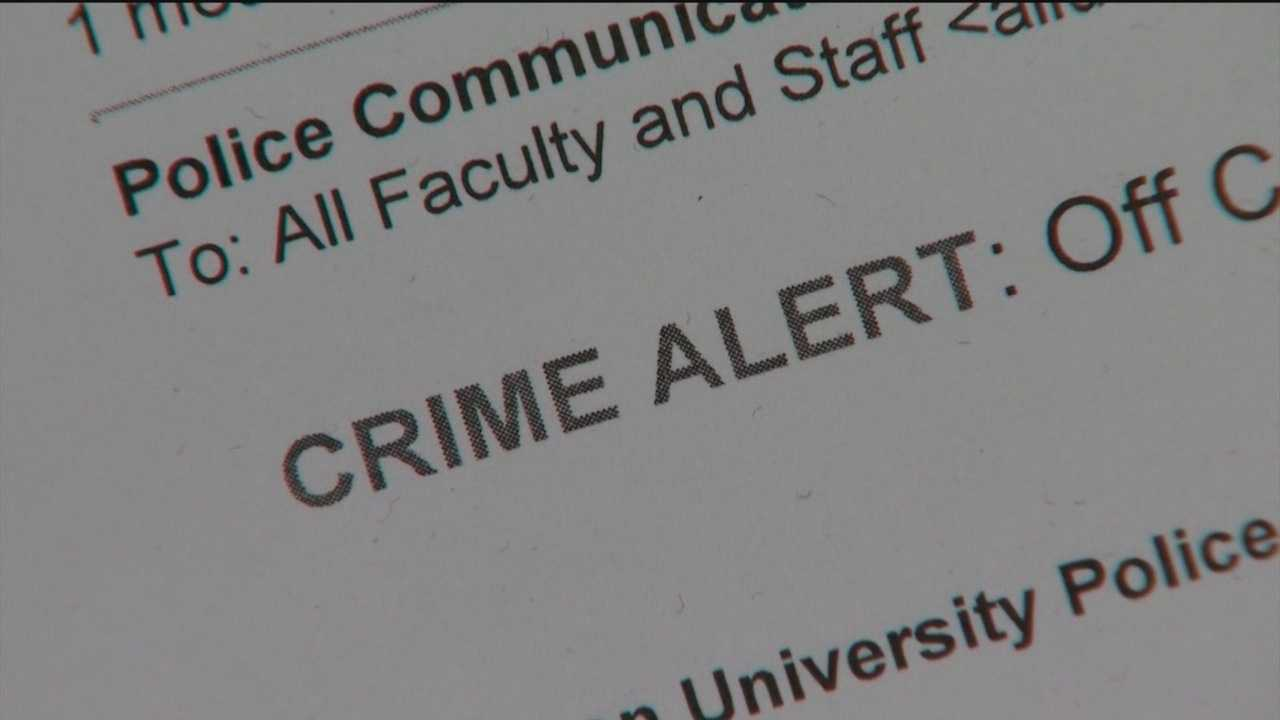 Towson University officials addressed the recent spike in crime after two college students were robbed in two days.