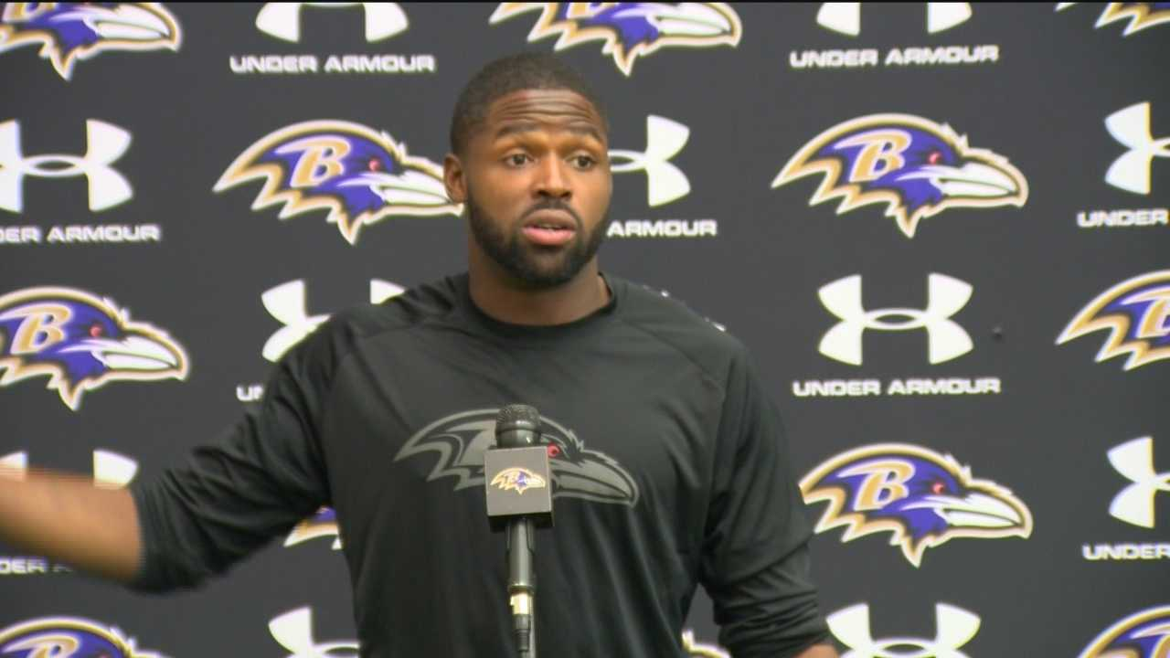 Wide receiver Torrey Smith talks about the issue of hazing during a press conference.