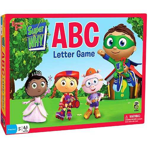 Super WHY! ABC Letter Game by University Games (Suggested Age Range: 3+ Years)