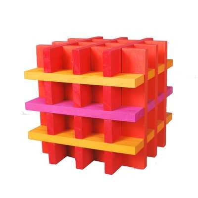 100-Piece Building Block Set - Hot Colors by Citiblocs (Suggested Age Range: 3+ Years)