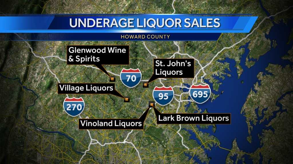Map - liquor stores cited