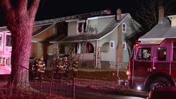City fire investigators are trying to figure out what sent a northwest Baltimore home up in flames.