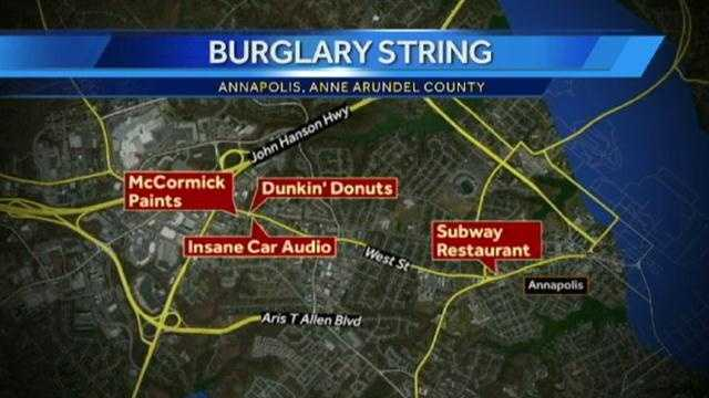 Annapolis robbery map