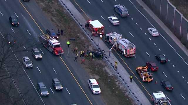 I-83 police pursuit crash