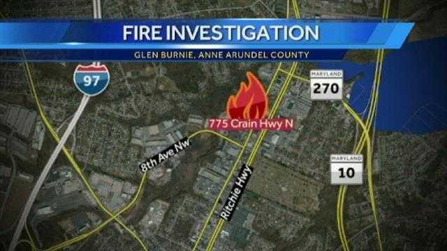 Glen Burnie storage fire