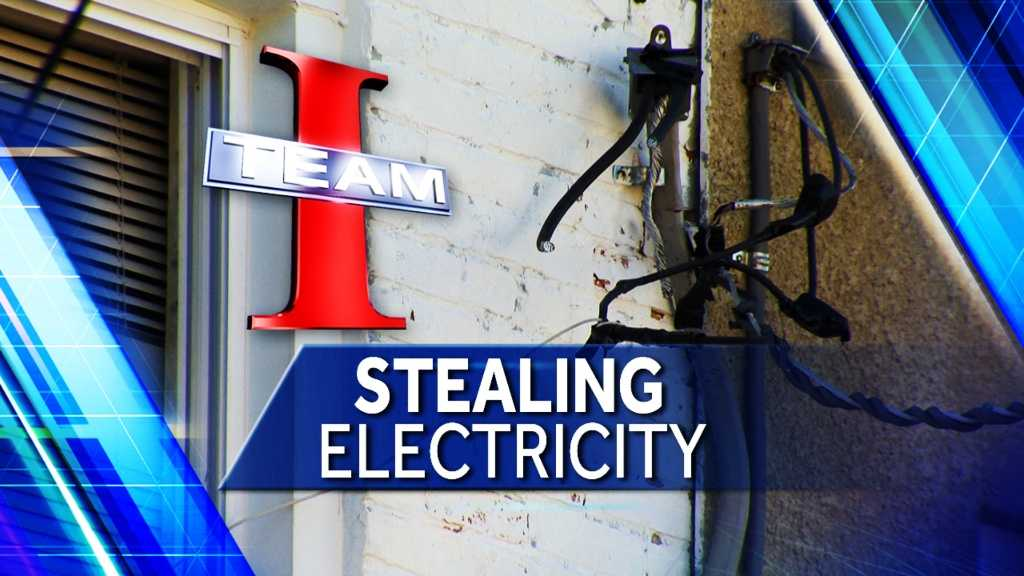 stealing electricity graphic