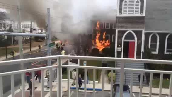 Video of a fire that consumed a church in Ocean City. Video courtesy Don Bowden.