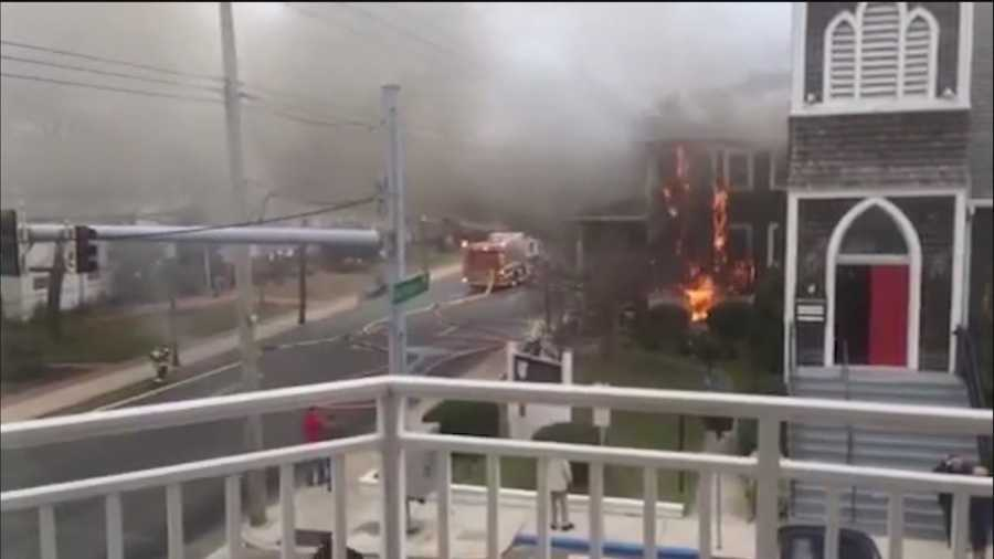A three-alarm fire in Ocean City has claimed two lives and injured one other, officials said.