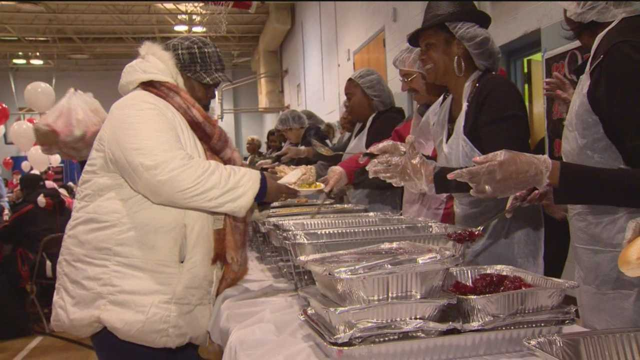 The lines stretched out the door for the annual Bea Gaddy Thanksgiving Dinner as organizers, volunteers and guests continued the more than three-decades-long tradition.