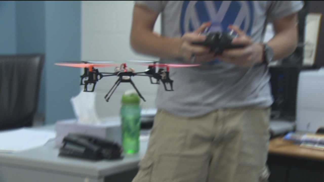 It didn't take much to get students at South River High School to get excited about building mini-drones right in their classroom.