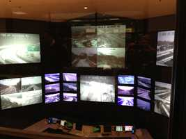 SHA officials monitor road conditions at their command center in Hanover.