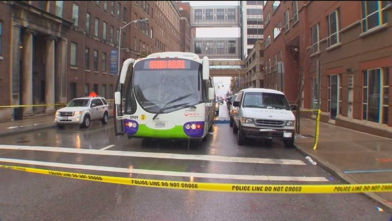 A pedestrian was struck and killed by a Charm City circular bus Tuesday morning. Police are investigating the incident.