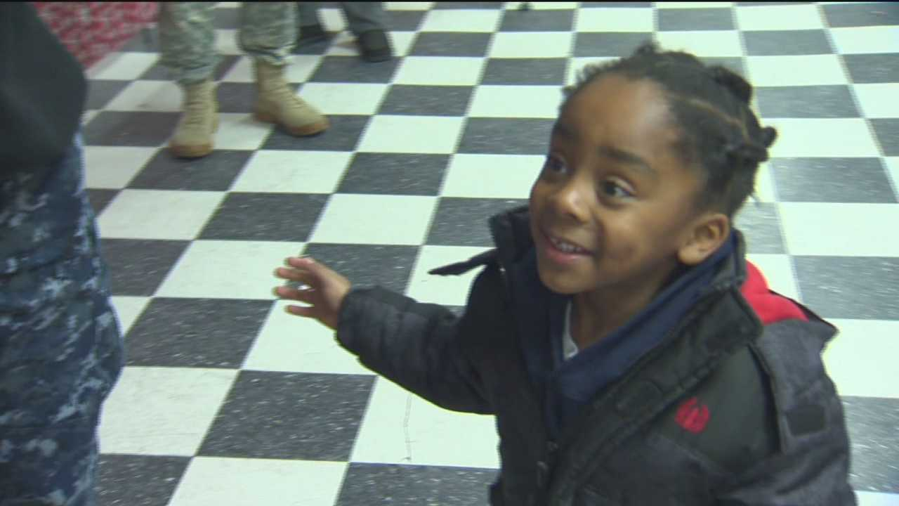 Jaden Johnson, 5, is excited to get the toys on his wish list.