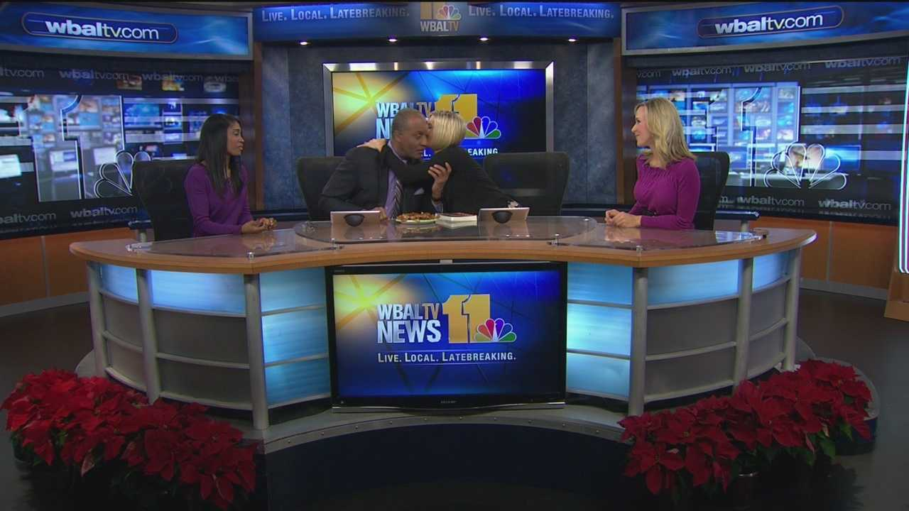 Stan Stovall says goodbye to the 11 News Today morning show crew.