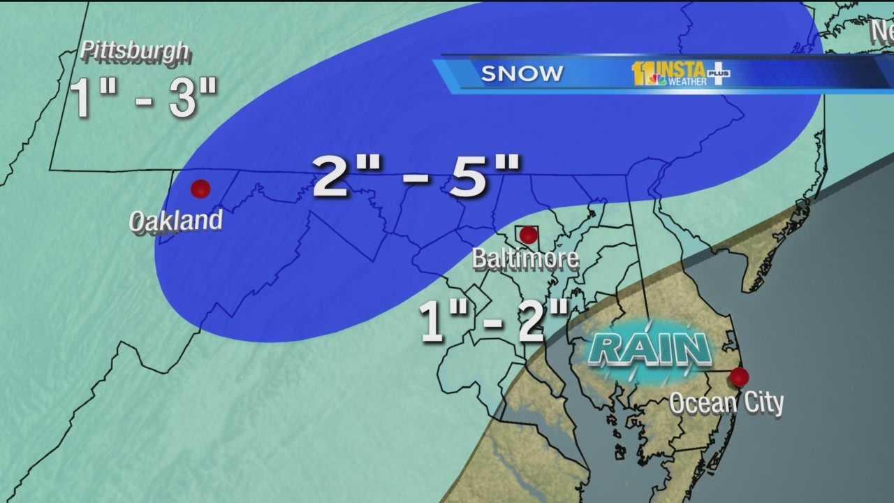 Snow, freezing rain in forecast Saturday