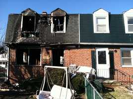 Three people are recovering after a Baltimore County house went up in flames early Thursday morning.