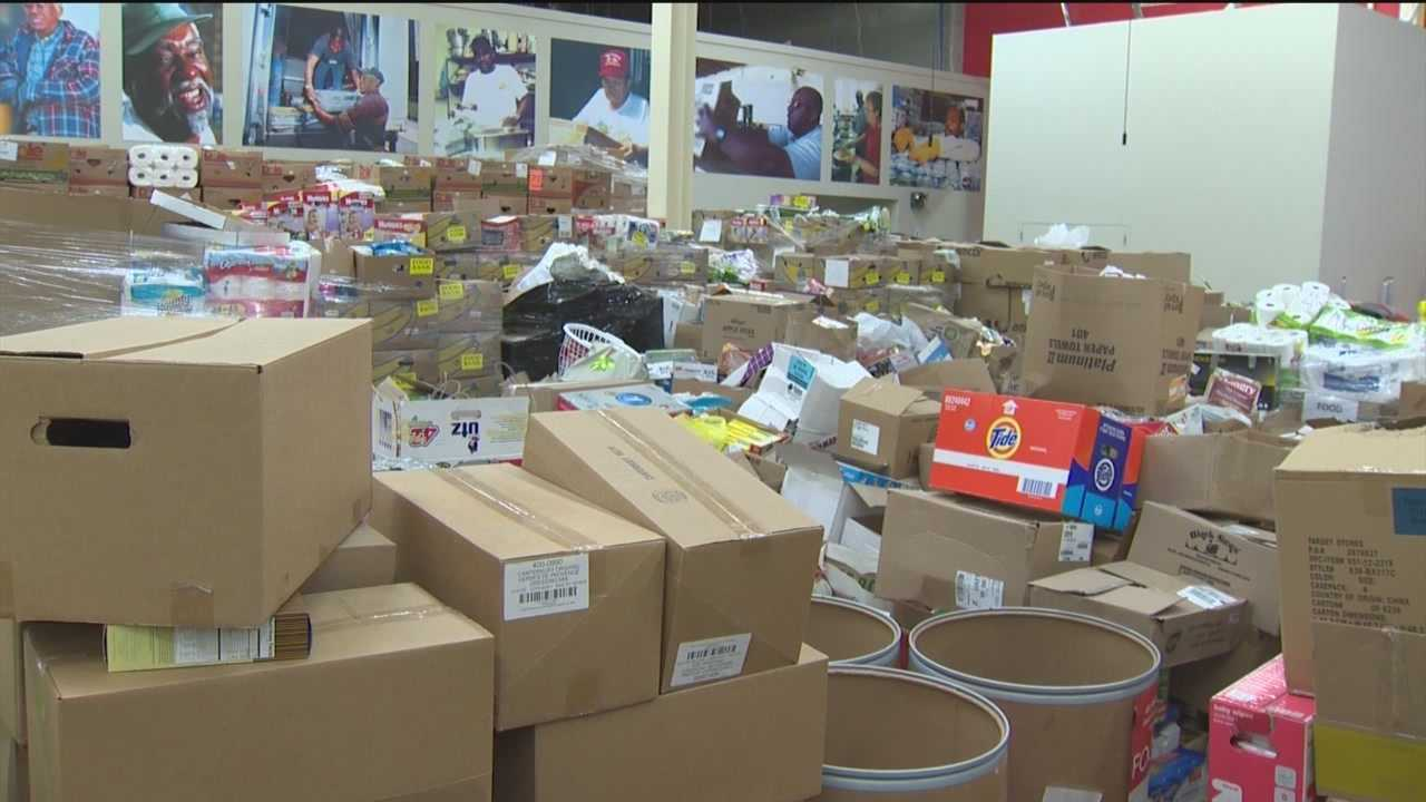 Food donations fly off shelves to those in need