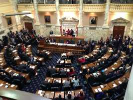 Jan. 8: The 434th Maryland General Assembly gets underway for Session 2014. Here's a look at the House chambers.
