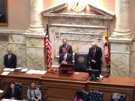 Jan. 8: Unusual move on first day. Gov. Martin O'Malley lets Democratic gubernatorial candidate Lt. Gov. Anthony Brown address the House chamber on the first day of Session 2014.