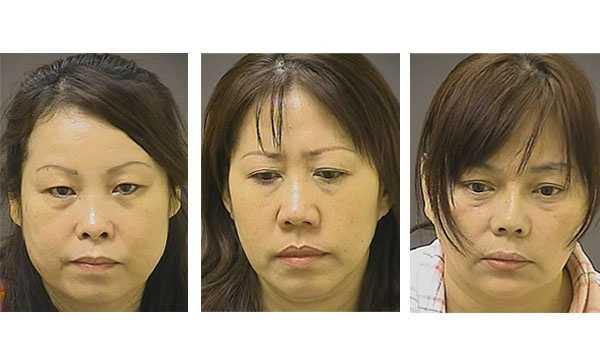 Linua Zhang, 54 (left), Wenso Zhang, 47 (middle), Jinmei Guan, 51 (right).