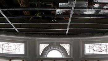 Loyola sprinkler pipe burst damage