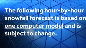 The following slides are from a computer model forecast of Friday's potential storm and could change.