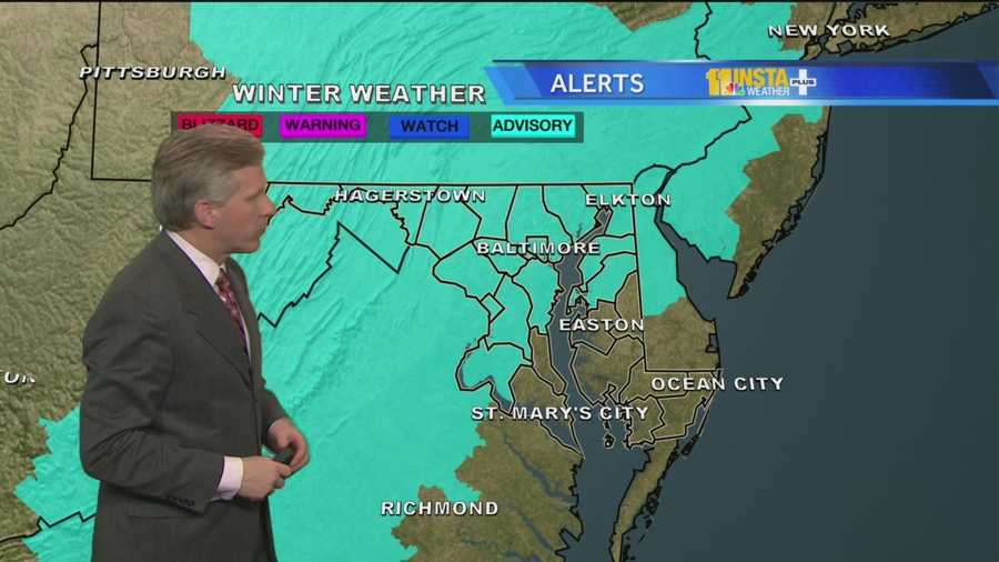 The National Weather Service issues a freezing rain advisory from 11 p.m. Thursday to 11 a.m. Friday. See which counties are affected