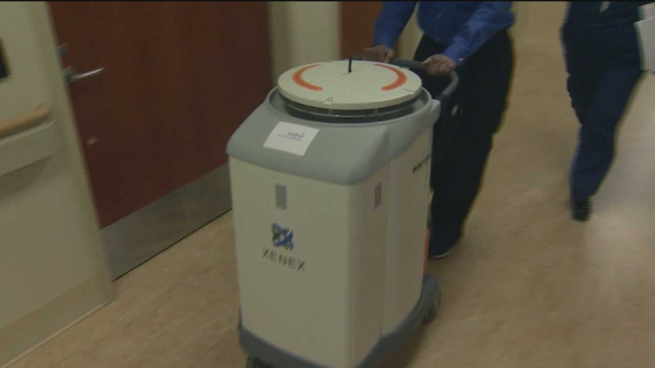 The Xenex germ-killing robot is a $130,000 device that can sanitize an entire hospital room in just a few minutes.