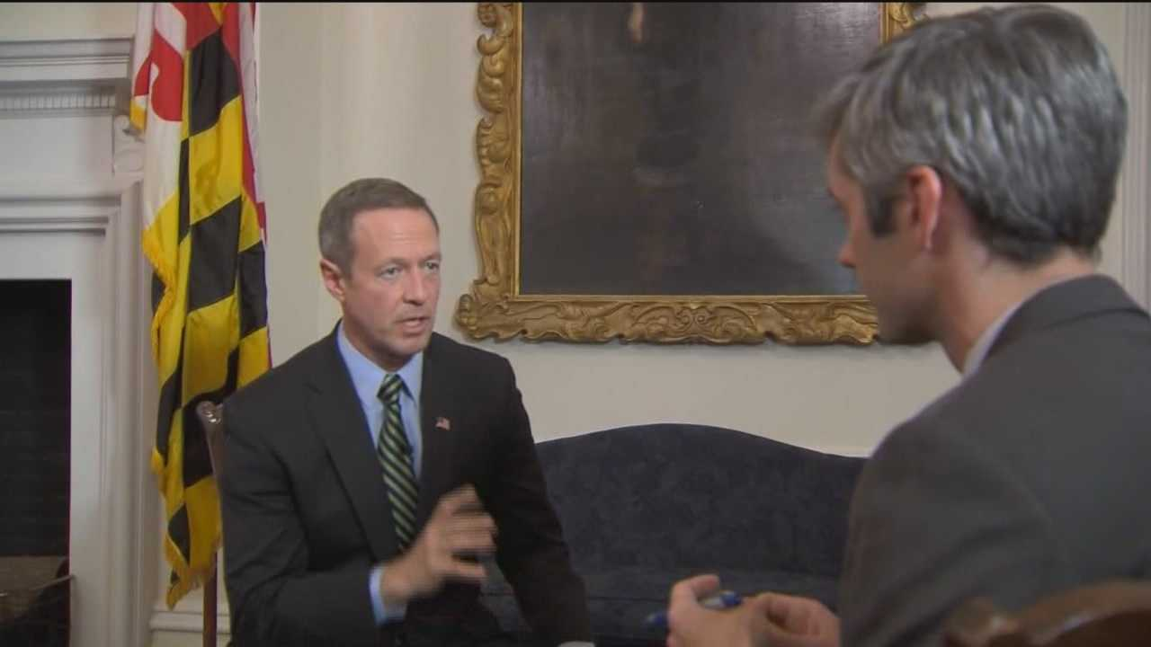 Gov. Martin O'Malley discusses the 2015 state budget with 11 News reporter George Lettis.
